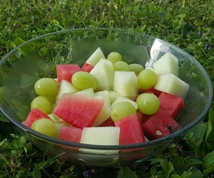 fruit, grapes, and melon image