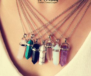 crystal, necklace, and quartz image