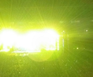 concert, green, and lights image