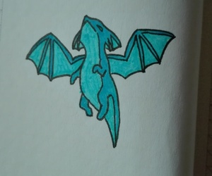 blue, dragon, and draw image
