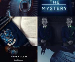 aesthetics, blue, and hogwarts image