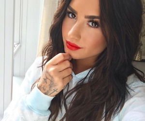 demi lovato, beauty, and tattoo image