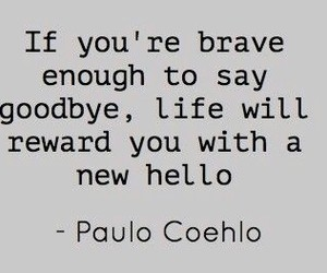 quotes, life, and goodbye image