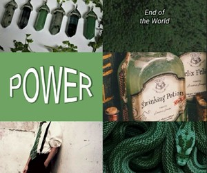 aesthetics, green, and hogwarts image
