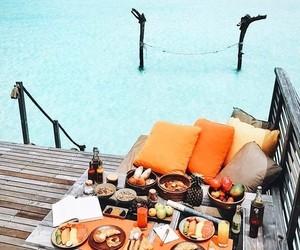 food, sea, and beach image