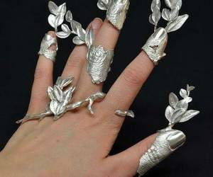 silver, art, and hand image