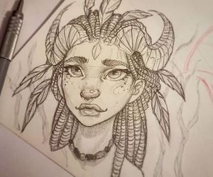drawing girl and sketch image