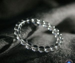 beads, bracelet, and crystal image
