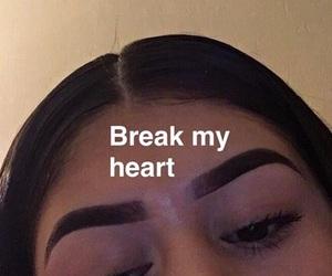 break up, girl, and heart image