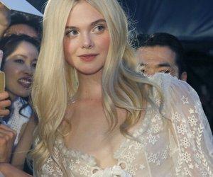Elle Fanning, blonde, and dress image