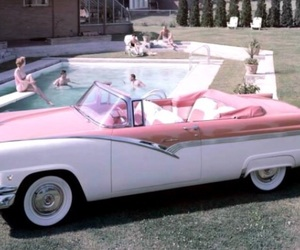 1956, car, and convertible image