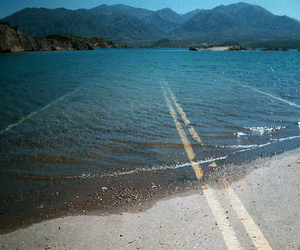road, water, and sea image