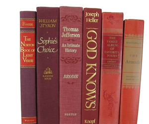antique books, etsy, and red books image