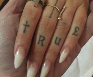 tattoo, nails, and aesthetic image
