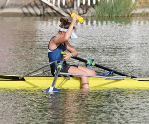 row, workout, and rowing image