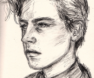 cole sprouse and portrait draws image