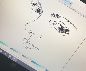 art, face, and inkscape image