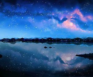 anime, beautiful, and galaxy image