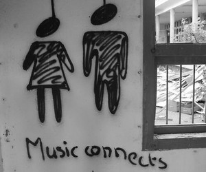 black and white, music, and quotes image