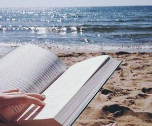 book, reading, and beach image