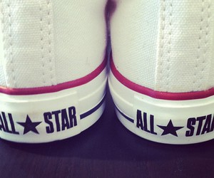 white, converse, and red image