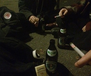grunge, cigarette, and alcohol image