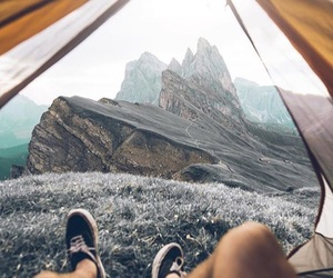 camping, exploring, and mountains image