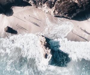 playa, arena, and olas image