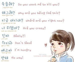 korean, hangul, and learn image