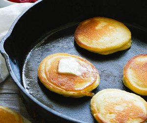 breakfast, pancakes, and cornmeal image