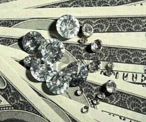 diamond, money, and rich image