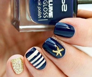 blue, white, and nails image