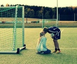 love, football, and kiss image