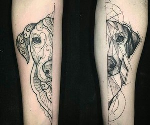 dog, dogs, and tattos image