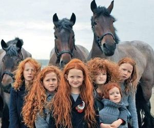 horse, hair, and red image