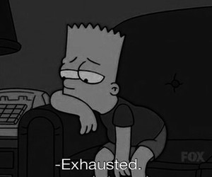 exhausted, simpsons, and bart image