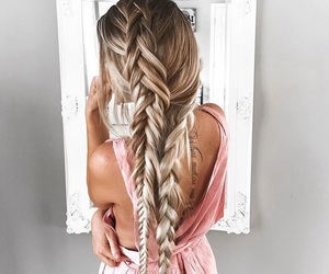 blonde, lovely, and braid image