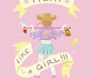 anime girl, fan art, and sakura card captor image