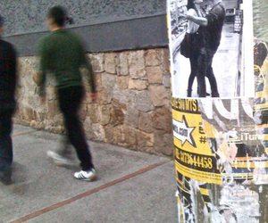 couple, urban art, and walk image