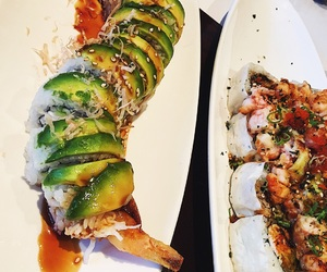 food, foodie, and sushi image