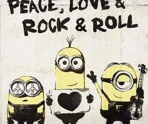 minions, peace, and love image
