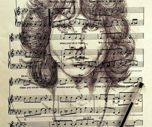 illustration, Jim Morrison, and rock image