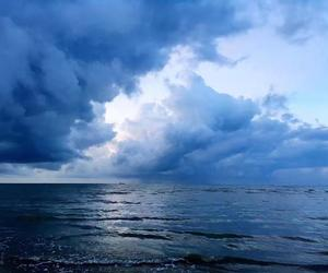 blue, clouds, and ocean image