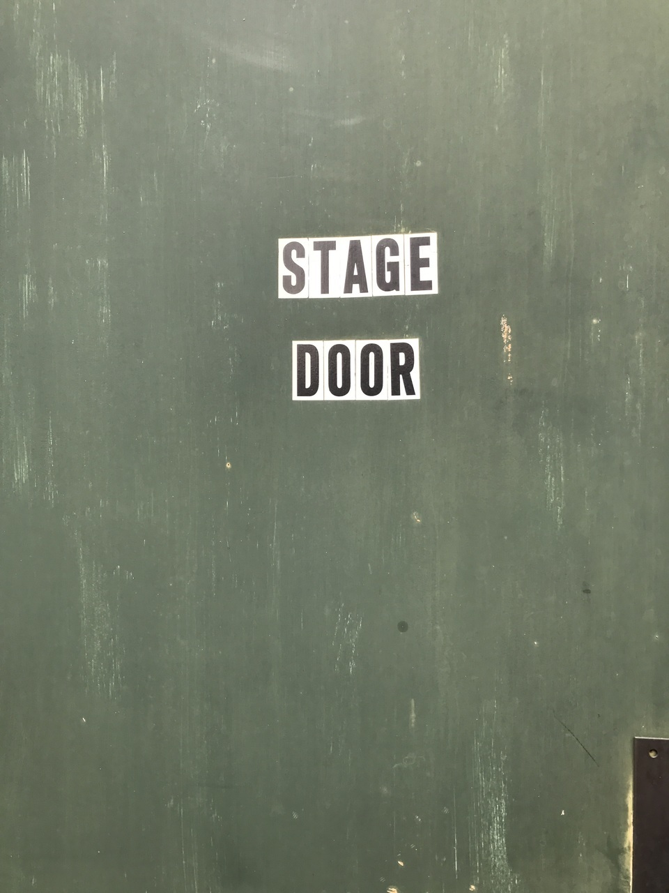 door, green, and stage image