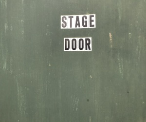 door, green, and stage door image