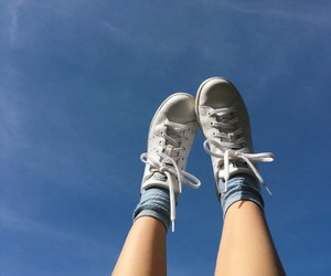 sky, aesthetic, and shoes image