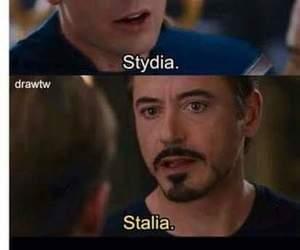 stydia, stalia, and captain america image