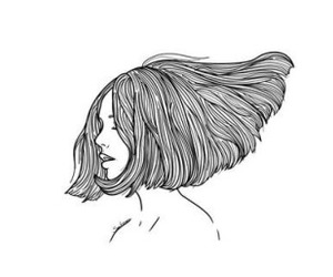 girl, hair, and art image