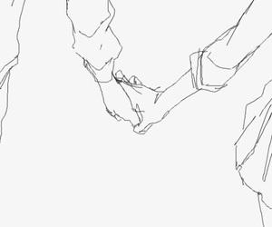 art, líneas, and couples image