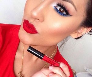 beautiful, fourth of july, and makeup image